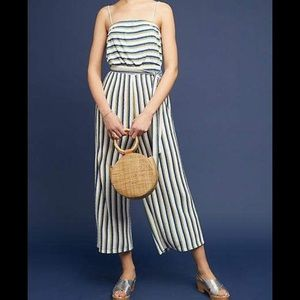 New Anthropologie Maeve Jumpsuit. Striped.